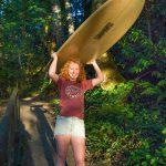 Puget Sound, Percival Landing, PNW Senior Photo, Portraits, High School Senior photography, best locations South Sound, Washington state, Olympia, Capitol, high school senior girl, surfboard, surfer, redhead, adorable, Priest Point Park